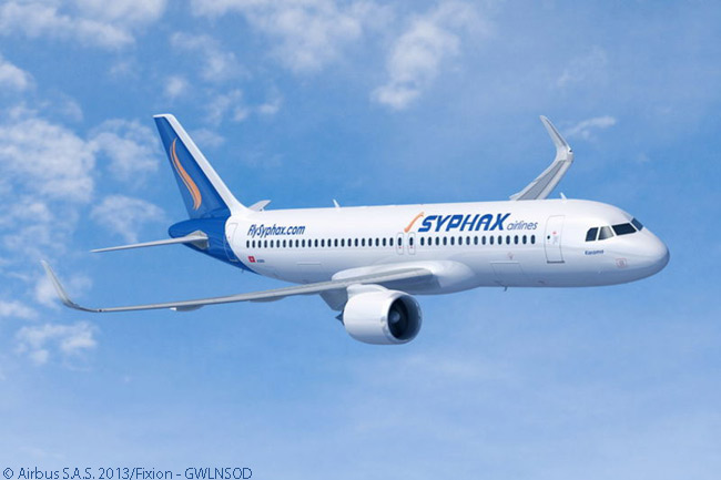 At the Paris Air Show on June 18, 2013, Airbus announced that Tunisian carrier Syphax Airlines had signed a memorandum of understanding to order three A320neos and had placed an order for three A320s. Syphax firmed the order on July 4, 2013